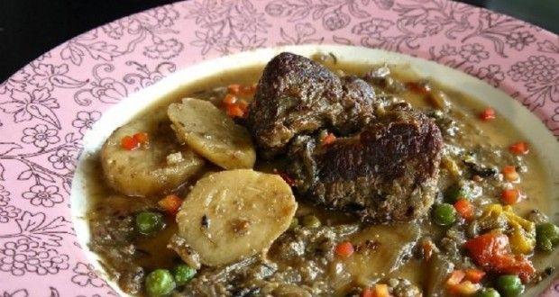 μοσχαρίσιο χτένι με λαχανικά και γάλα - Pandespani.com
