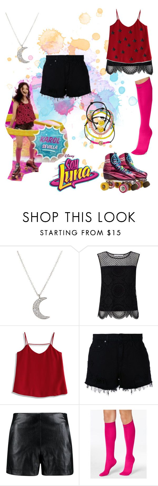 """soy luna"" by maria-look on Polyvore featuring Finn, Diane Von Furstenberg, Chicwish, Nobody Denim, Boohoo, Pretty Polly and Carole"