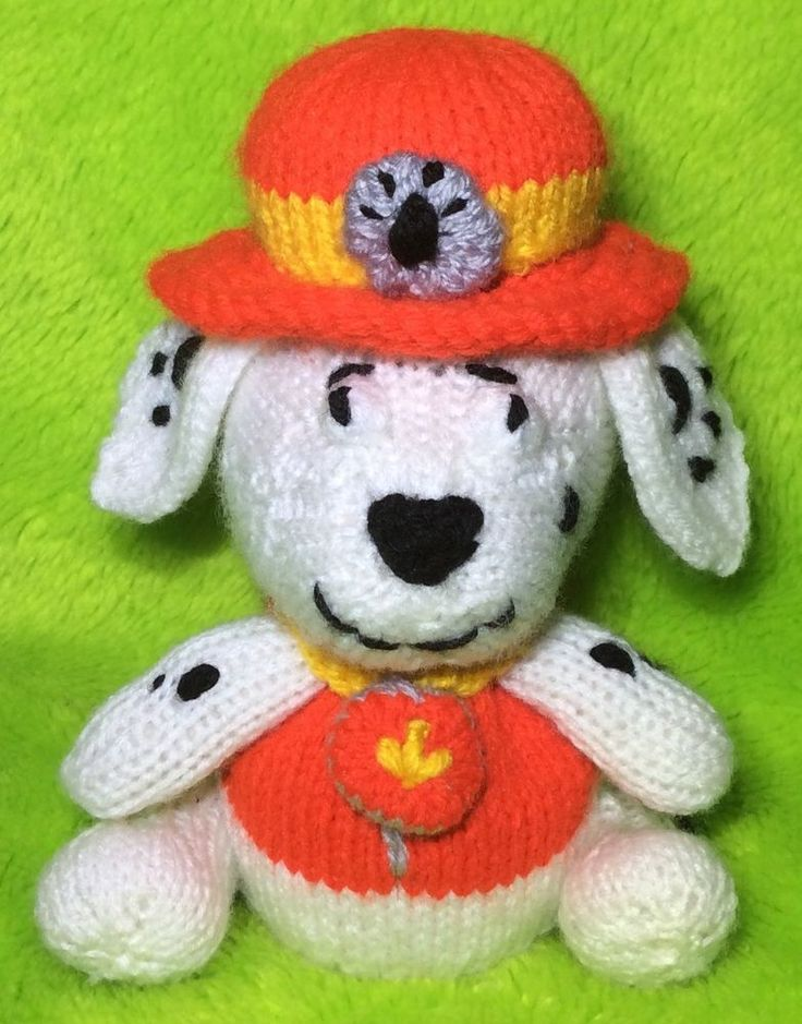 KNITTING PATTERN - Marshall inspired choc orange cover / 18 cms Paw Patrol toy  | eBay