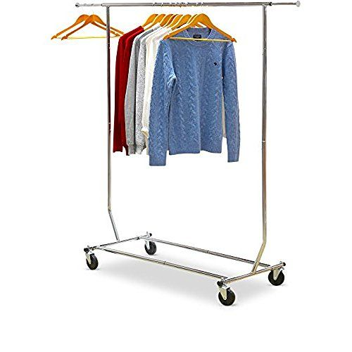 SONGMICS Rolling Clothes Rack Adjustable Garment Rack Portable Hanging Rack  For Clothes With Wheels ULLR01L | Bacik Home Things | Pinterest | Clothes  ...
