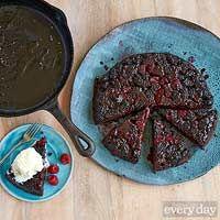 Berry Upside-Down Chocolate Cake