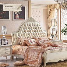 (0518) alla moda camera da letto in legno mobili: 1 letto di lusso e 1 accanto a tavola  (China (Mainland))