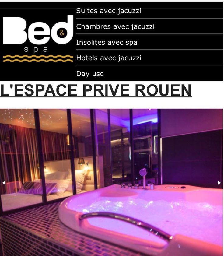 Unique à Rouen, cet appartement privatif est conçu exclusivement pour votre bien-être. Présenté par:  bednspa.com