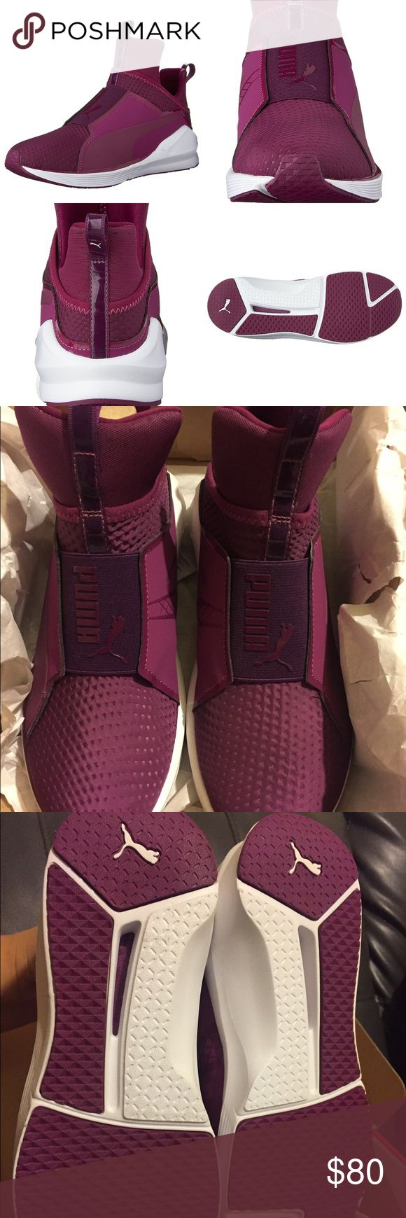 NEW PUMA FIERCE QUILTED MAGENTA PURPLE WMNS 6.5 New with box. Authentic. Color is magenta purple. Women's size 6.5. These shoes do not have shoe laces. No defects. Puma Shoes Sneakers