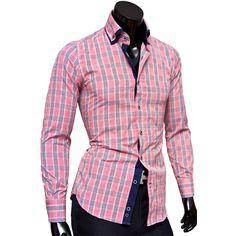Рубашка Venturo приталенная цвет красный в клетку