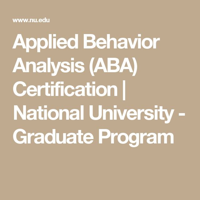 Best  Aba Certification Ideas On   Applied Behavior