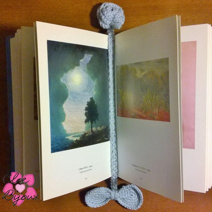 Segnalibro Fiocco e Rosellina Crochet, by Cloe Bijoux, 3,50 € su misshobby.com