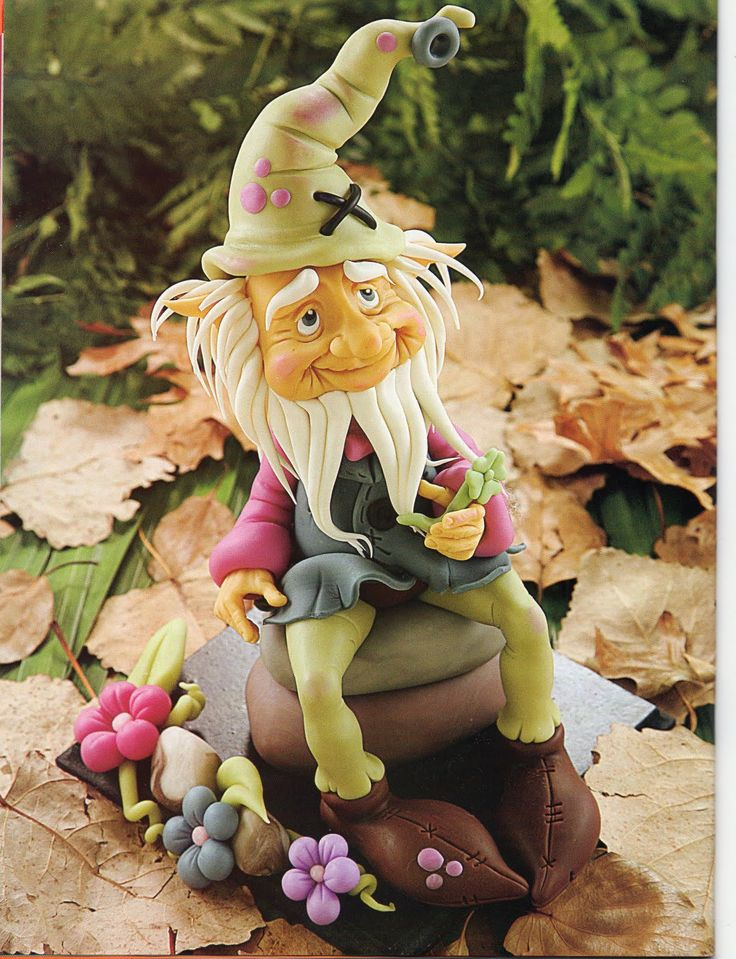 Air Dry Clay Tutorials: Create a Leprechaun, Elf or Gnome with cold porcelain
