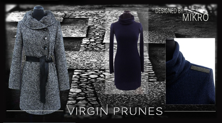 Tweed Coat - VIRGIN PRUNES by MIKRO