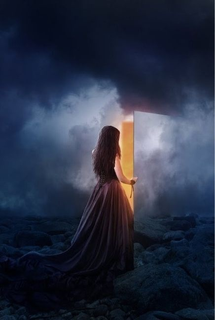 ♂ Dream ✚ Imagination ✚ Surrealism Surreal art Girl open Hidden doorway with light: