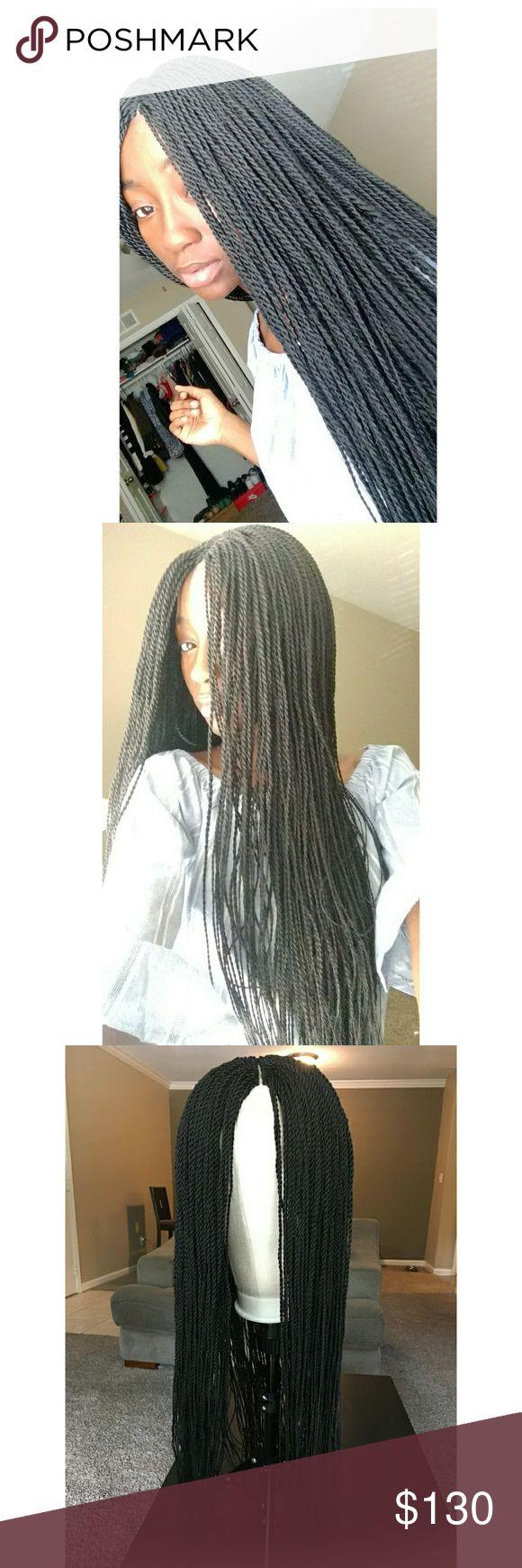 Black Senegalese Twist Braided Wig 24 Inch Senegalese Twist Wig in color 1B. Mad…