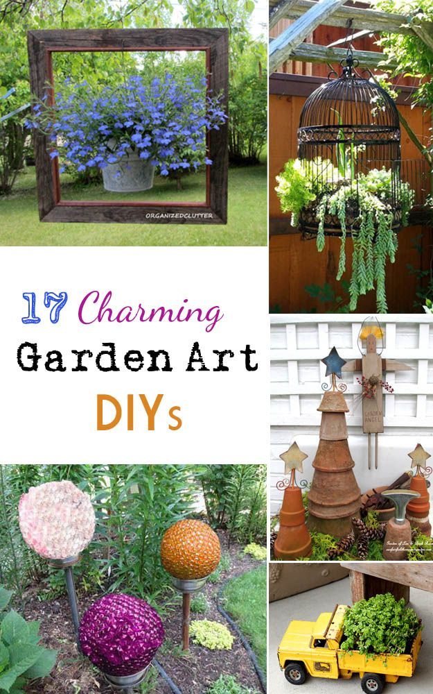 DIY. .#17 Charming Very Low Cost (as in a couple of dollars ) Easy Decor & Art  Ideas For Your yard and Garden !