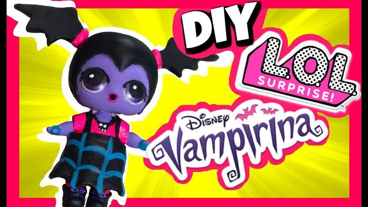 DIY Vampirina Doll Cumstom LOL Surprise Dolls Videos Disney Jr - YouTube