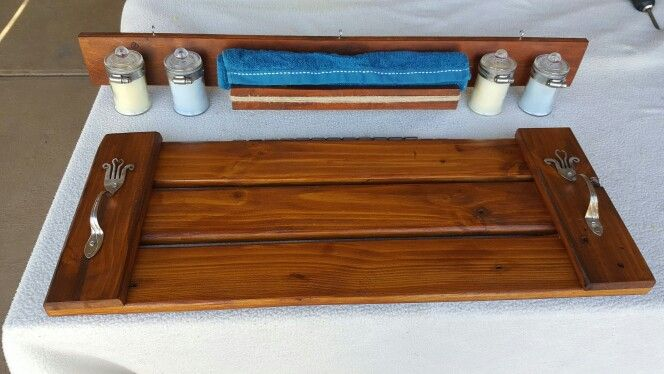 Bath caddy with matching wall hanging