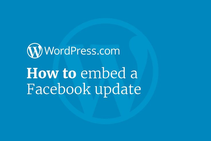 You can embed a Facebook status in your WordPress posts and pages - our latest WordPress tutorial will show you how: