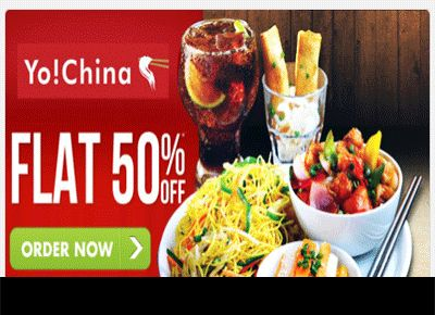 FLAT 50% OFF ON FULL MENU (YO! CHINA) On Every Tuesdays(http://goo.gl/lMJvih)