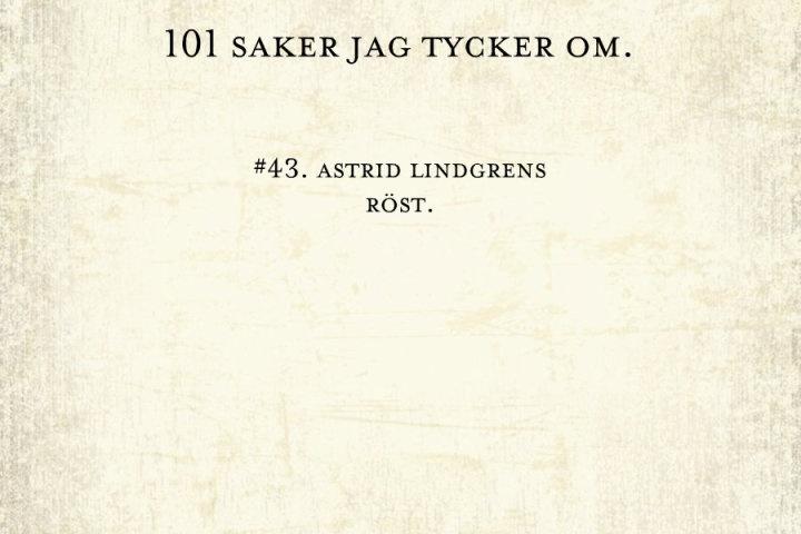#43, astrid lindgren.