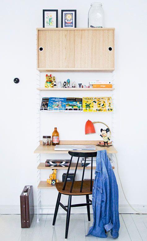Mignon et rigolo : ça peut être approprié pour un salon ou une cuisine. J'imagine bien des livres de recettes dans les étagères.
