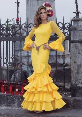 Traje de Flamenca. Modelo Girasol. 2017-2018