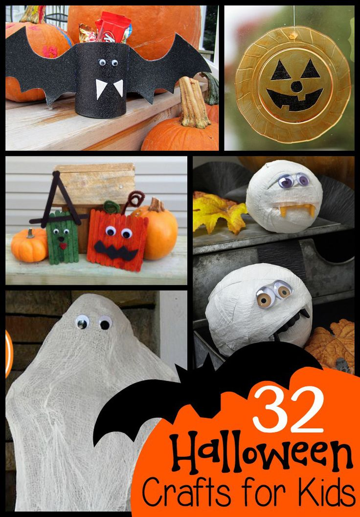 A roundup of Halloween crafts perfect for classroom parties or fun at home!