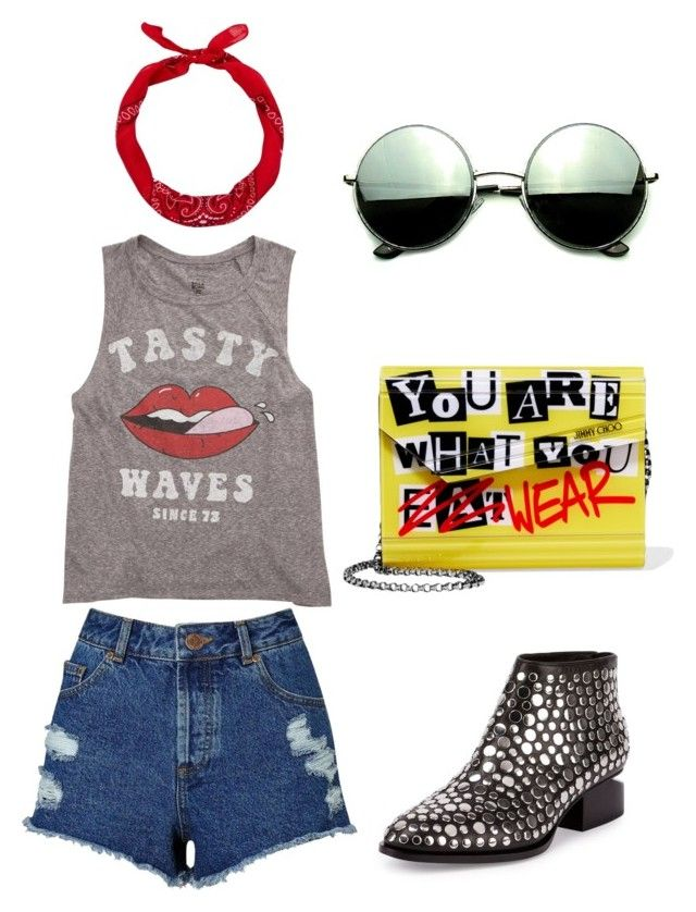 rock by lexy24 on Polyvore featuring Billabong, Miss Selfridge, Alexander Wang, Jimmy Choo, Revo and New Look