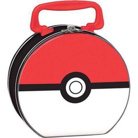 Pokemon Tin Box 6 1/4in x 5 3/4in x 3in - Party City