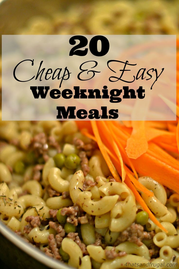 Need cheap and easy meals for your busy weeknights? These 20 meal options are delicious and frugal!