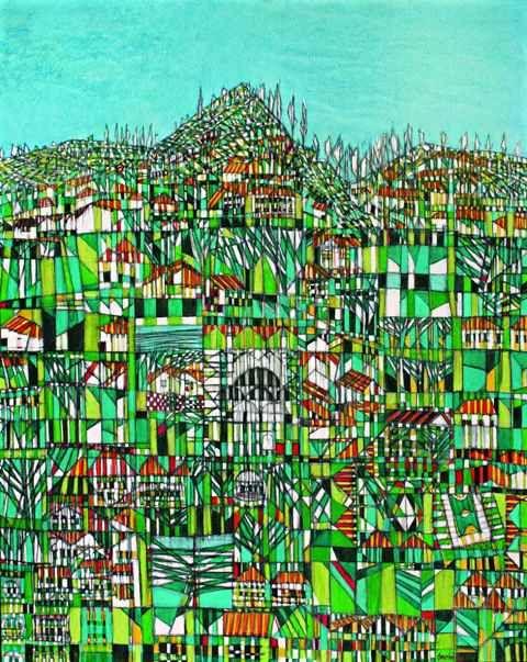 Devrim Erbil, Anatolian Abstraction, 1998, oil on canvas, 100 x 80cm.