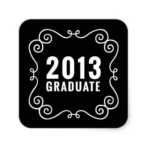 Fancy 2013 Graduate Sticker #graduation #classof2013