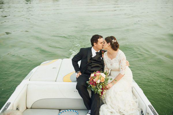 Sunny & Cheery Lawn Party Wedding in Moses Lake, Washington #wedding