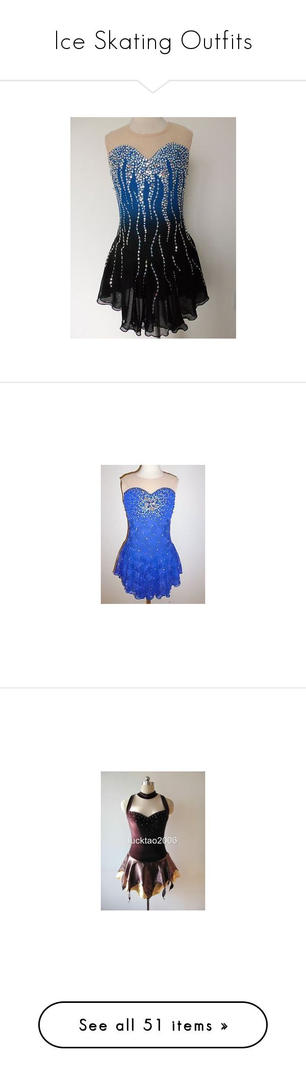 """""""Ice Skating Outfits"""" by joyjoybunny ❤ liked on Polyvore featuring dresses, ice skating, dance, lullabies, sports, sport dress, brown dress, brown cocktail dress, sports dress and figure skating"""