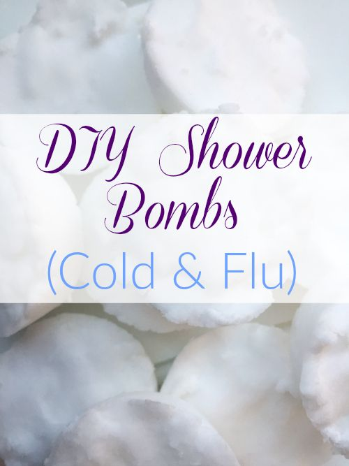 Cold and flu season is here. These DIY Shower Bombs are a perfect addition to your medicine cabinet for times when you're stuffed up and feeling down.