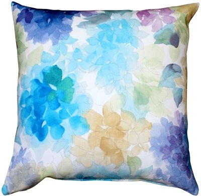 May Flower Throw Blue Pillow 20X20