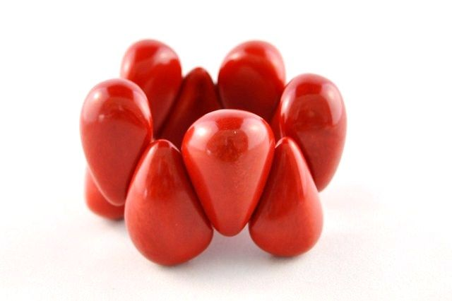 Rich-red #ecojewelry #tagua