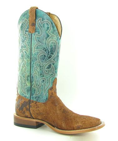 Look what I found on #zulily! Rusty 'n Nasty & Turquoise Cowboy Boot - Men by Anderson Bean #zulilyfinds