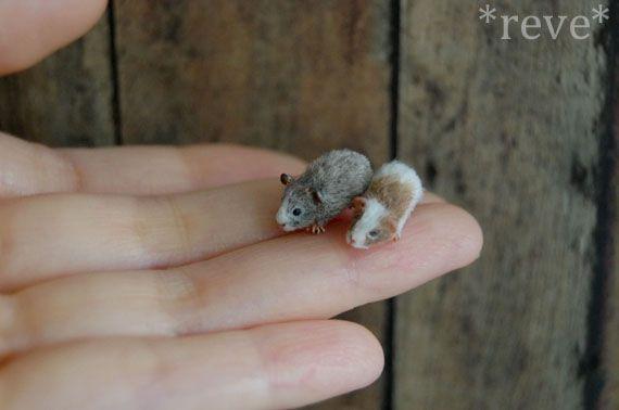 Miniature Guinea Pigs * Handmade Sculpture * by ReveMiniatures on deviantART