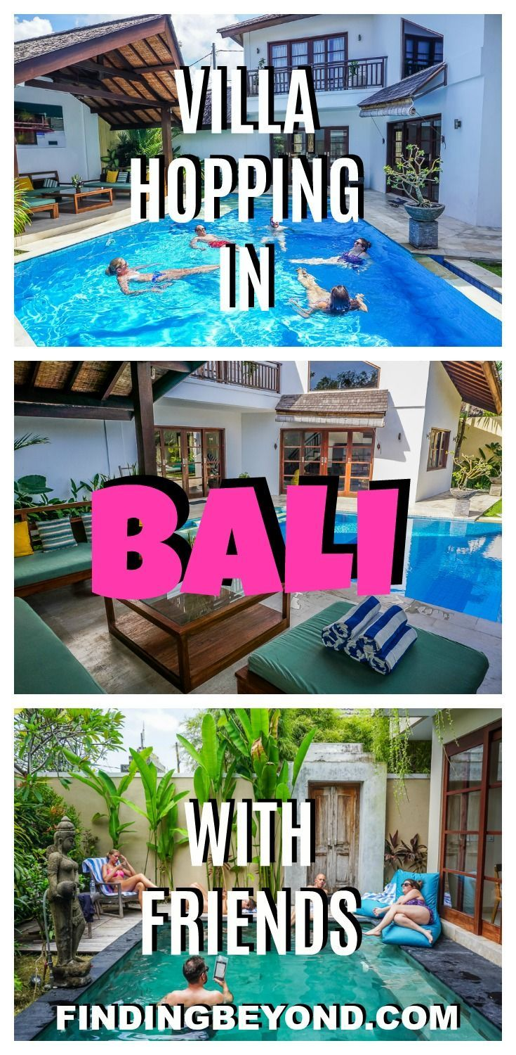 Hiring villas on the coast of Bali, Indonesia, was the perfect way to catch up with our visiting friends.