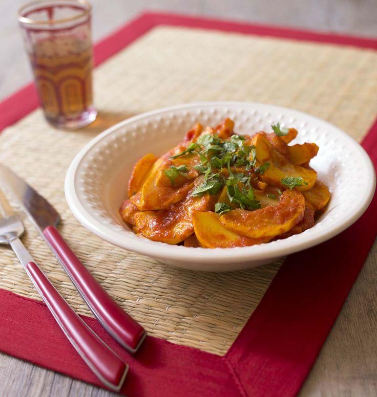 Une belle recette comme je les aime, ces courgettes à la marocaine sont parfumées au cumin et au paprika. D'après une belle idée de Bouchra.