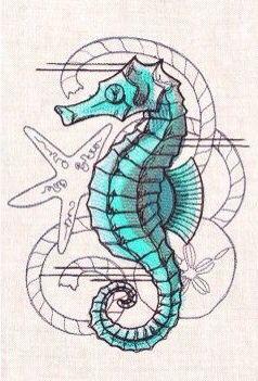 Seahorse nautical tattoo idea