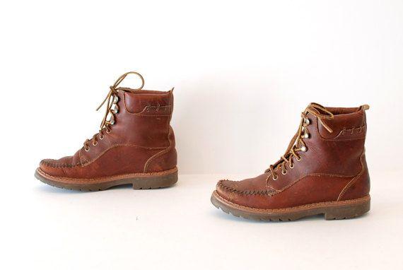 70 en randonnée marron cuir taille 75 années 80 extérieur