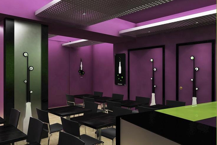 Dise o de interiores para la empresa heineken - Diseno de interiores en madrid ...