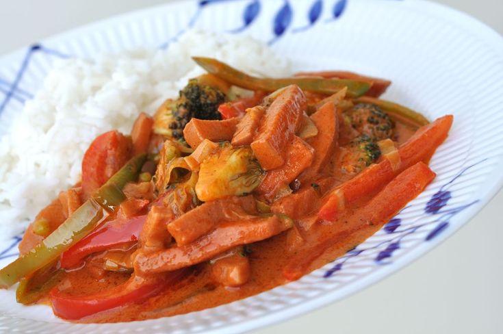 Ljuvligmat.se - en mat- och bakblogg - Falukorvsgryta med asiatisk smak