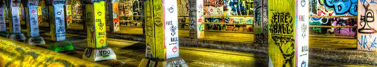 Krog Street Tunnel: Making Graffiti Cool Again | An ever-changing urban canvas of images, words and ideas awaits you in the Krog Street Tunnel, linking the eclectic Inman Park and Cabbagetown neighborhoods.