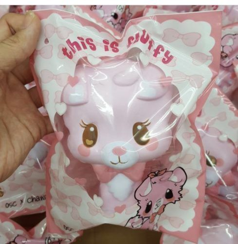 May Kawaii Squishy And Slime : Fluffy the pink dog squishy ~ chawa x onlysweetcafe Squishies, Kawaii and Slime