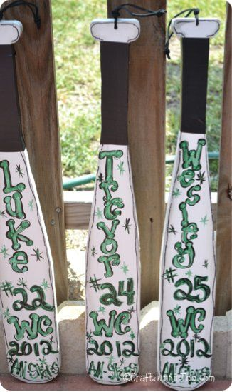 All star team baseball bats project baseball is life for Baseball bats for crafts