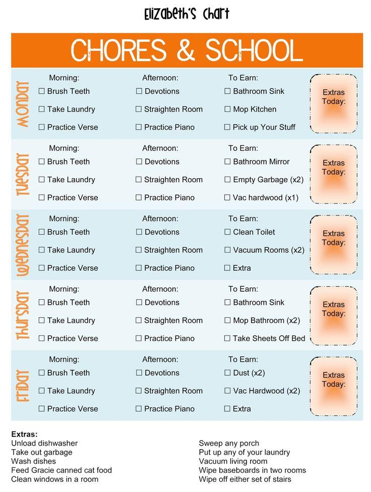 Free Age Appropriate Chores Printable plus THREE Free