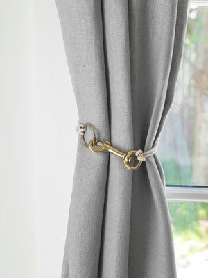 Curtain Tiebacks Ideas | Other ideas include converting a belt into a tieback (this could be ...