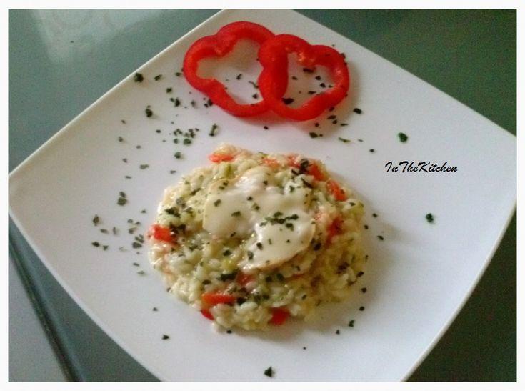 Risotto peperoni, zucchine e scamorza