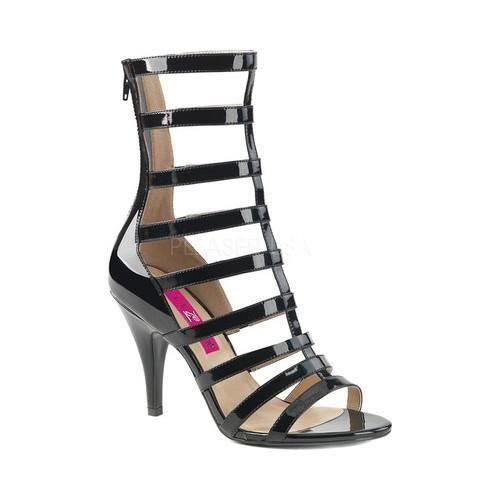 Women's Pleaser Pink Label Dream 438 Cage Shoe Patent