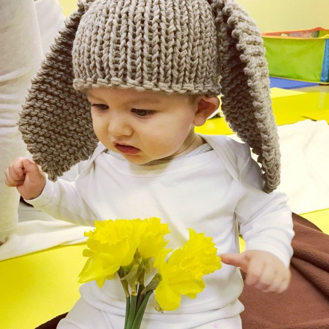 Bunny Hat Easy Quick Pattern Baby Knitting Baby Hat Free Pattern Baby Hats Knitting